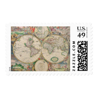 Old World Map Stamp