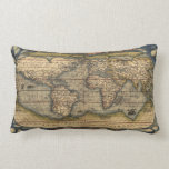 Old World Map Throw Pillow