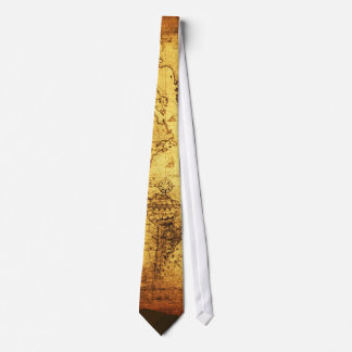 Old World Map Ties