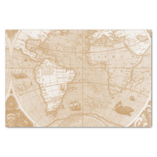 Old World Map Tissue Paper