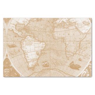 "Old World Map Tissue Paper 10"" X 15"" Tissue Paper"