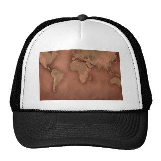 old world map trucker hat