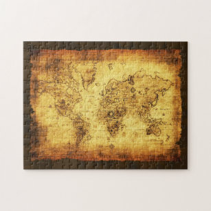 Historical map of the world jigsaw puzzles zazzle old world map vintage art puzzle gumiabroncs Choice Image