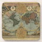 Old World Map Vintage Cork Coasters