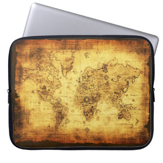 Old World Map Vintage Laptop Sleeve