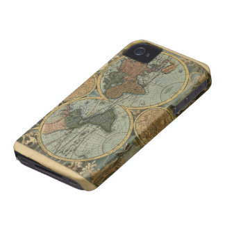 Old World Map, Vintage Maps iPhone 4 Case-Mate Case