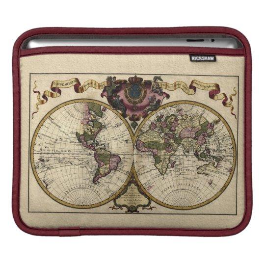 Old World Map Vintage Tablet Case Sleeve