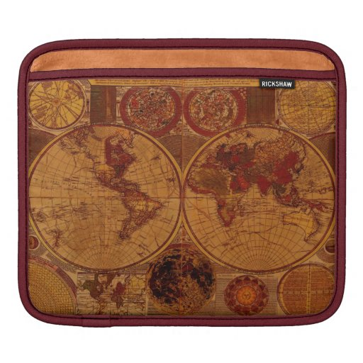 Old World Map Vintage Tablet Case Sleeve Sleeve For iPads