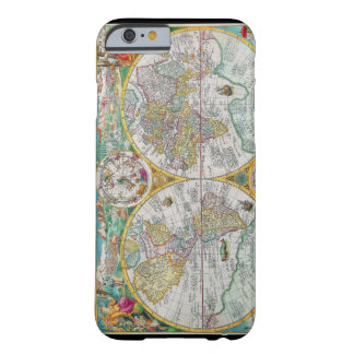 Old World Map with Colorful Artwork Barely There iPhone 6 Case