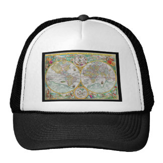 Old World Map with Colorful Artwork Trucker Hat