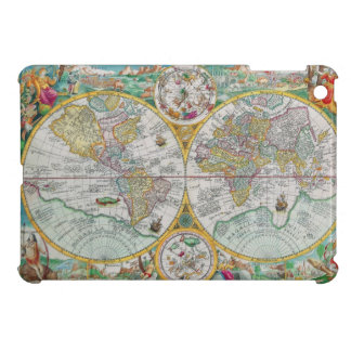Old World Map with Colorful Artwork Cover For The iPad Mini
