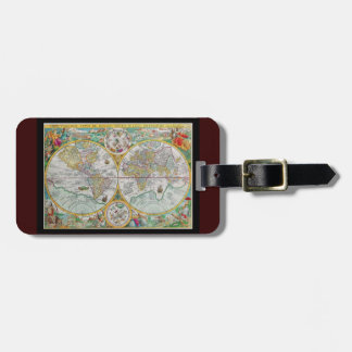 Old World Map with Colorful Artwork Luggage Tag