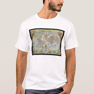 Old World Map with Colorful Artwork T-Shirt
