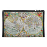 Old World Map with Colorful Artwork Travel Accessories Bag