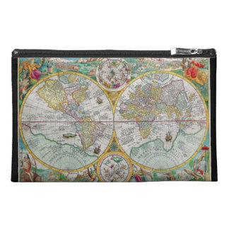 Old World Map with Colorful Artwork Travel Accessory Bag