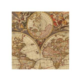 Old World Map Wood Wall Art