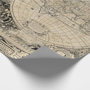 Old World Map Wrapping Paper | Zazzle