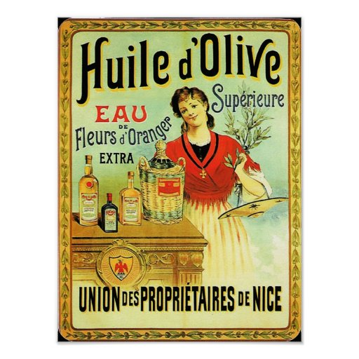 Amazing Old World Olive Oil Vintage Cooking Poster