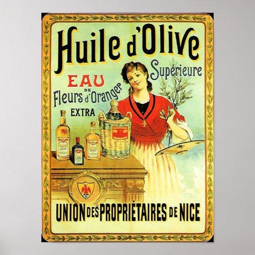 Old world olive oil vintage cooking poster zazzle for Plaque metal cuisine