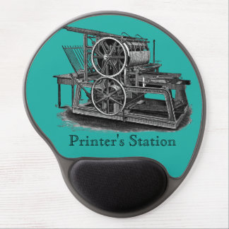 Old World Printing Press Gel Mousepad