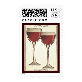 Old World Red Wine Themed Postage