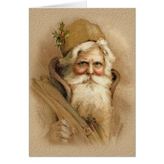 Old World Santa 2 Card