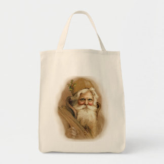 Old World Santa 2 Grocery Tote Bag
