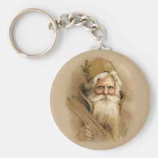 Old World Santa 2 Keychain