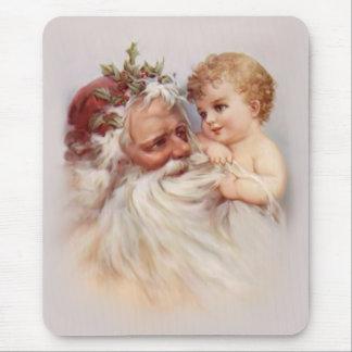 Old World Santa and Cherub Mouse Mats