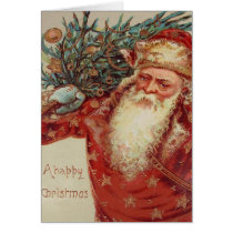 Old World Santa Card