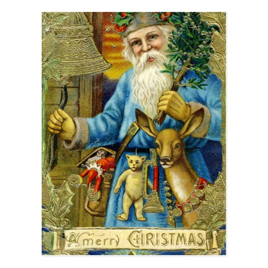 Old World Santa Claus Postcard