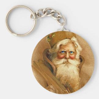 Old World Santa Claus, Vintage Victorian St. Nick Keychain