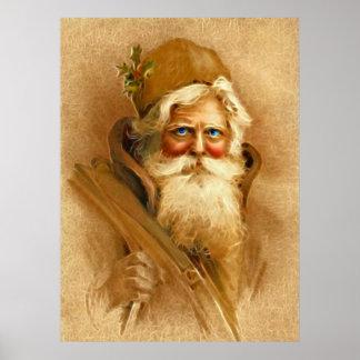 Old World Santa Claus, Vintage Victorian St. Nick Poster