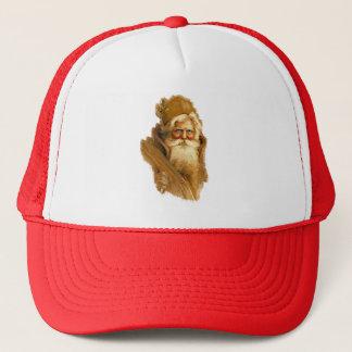 Old World Santa Claus, Vintage Victorian St. Nick Trucker Hat