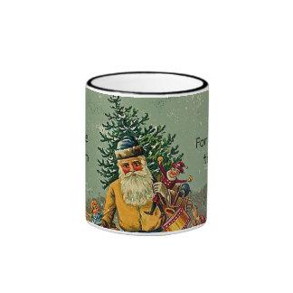 old world santa cup mug