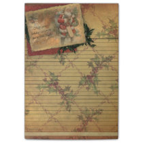 Old World Santa Holiday Season Sticky Note Pad