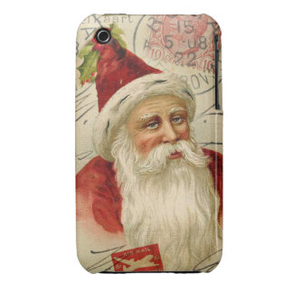 Old World Santa Mixed Media Art Case-Mate iPhone 3 Case