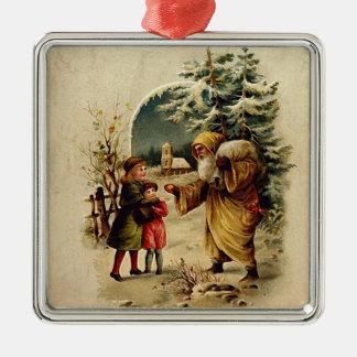 Old World Santa Ornament Square