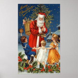 Old World Santa Poster
