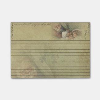 Old World Santa &Sleeping Children Sticky Note Pad
