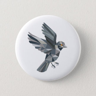 Old World Sparrow Low Polygon Button