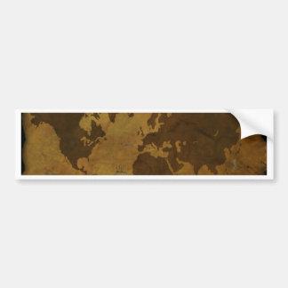 Old World Style Map Bumper Sticker