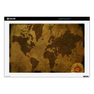 Old World Style Map Decal For Laptop