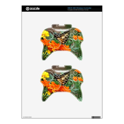 Old World Swallowtail Butterfly Papilio Machaon Xbox 360 Controller Skin