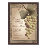 Old World Tuscan Grapevine Wine Bridal Shower 5x7 Paper Invitation Card