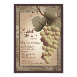Old World Tuscan Grapevine Wine Bridal Shower Card