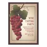 Old World Tuscan Grapevine Wine Tasting Party Invites