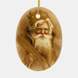 Old World Victorian Santa Claus Ornaments
