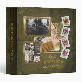 Old World Vintage Family Tree Album 3 Ring Binder