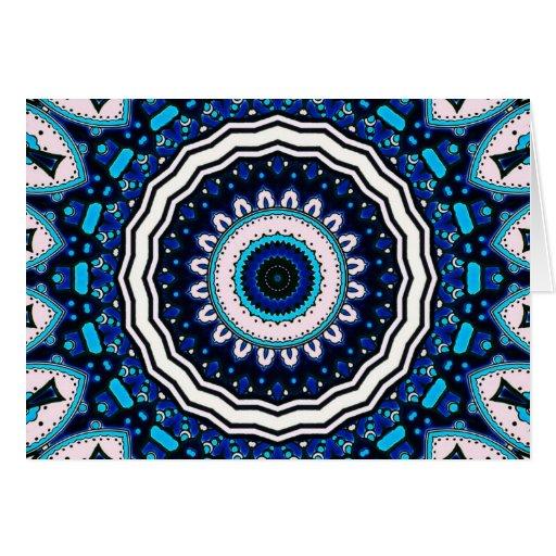Old world Vintage Moroccan influenced tile design Card